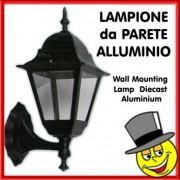 LAMPIONE PARETE IN ALLUMINIO 4 FACCE UP
