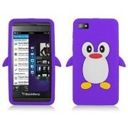 Aimo BB10SKPG014 Unique Penguin Skin Protective Case for BlackBerry Z10 - Purple