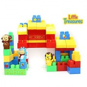 Forest Animals - Building block 82 pieces Mega Blocks compatible toy set for 12+ months toddlers for a fun educational p