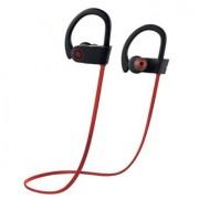 Wireless Bluetooth Headphones, Otium™ Beats Wireless Sports Earbuds Sweatproof Portable Stereo Mini Earpiece Lightweight Headsets With Microphone Red