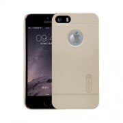 NILLKIN Frosted Shield for iPhone 5 & 5s & SE Concave-convex Texture PC Protective Case Back Cover(Gold)