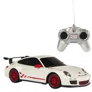 Rastar - Porsche GT3 RS, coche teledirigido, escala 1:24, color blanco (ColorBaby 85038)