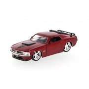 1970 Mustang Boss 429, Red Jada Toys 96941 1/32 Scale Diecast Model Toy Car