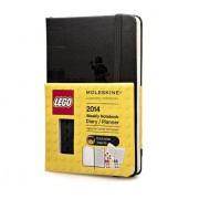 Moleskine 2014 Planner 12 Month Lego Weekly Notebook Pocket Black