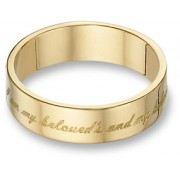 "I Am My Beloved's and My Beloved Is Mine"" Wedding Band, 14K Gold"