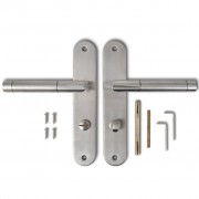 vidaXL Nerezová klika, štítové dveřní kování na WC