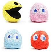 Pac-Man 6 Plush Set of 4 with Sound