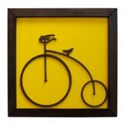 Quadro Fun Criative Bicicleta Amarelo