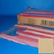 Bevásárló tasak 25+12x45 cm piros-fehér, ingvállas