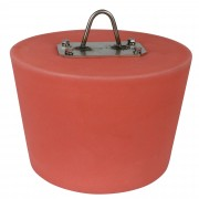 "Capped Gutter Plug With Loop Plate - 10"" - Red"
