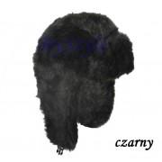 Ciepła czapka futrzana uszatka na zimę