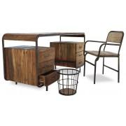 MobilierMoss Mesa de despacho Brighton estilo industrial madera y metal