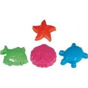 Simba Toys Animali, 4 formine per la sabbia, 10 cm