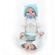 55 Cm Silicone Reborn Bébé Poupée Jouets Pour Fille Réaliste 55 Cm Reborn Les Bébés Jouent Maison Jouet Enfants Enfant Cadeau D'anniversaire Fille Réel Tactile