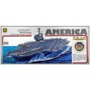 Uss Aircraft Carrier America (Cva/Cv 66) (Plastic Model) Micro Ace(Arii) 1/800 Battleship & Aircraft Carrier|No.11
