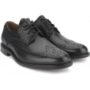 Clarks Dorset Limit Black Leather Formal Shoes(Black)