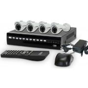 KIT DVR 4ch BUDVR4 960h + 4 butp200 960h 700tvl