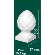 Remate de Piña para Balaustradas de 17x17x36