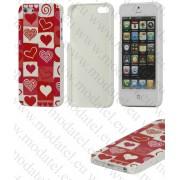 Apple iPhone 5 (калъф пластик) Hearts style