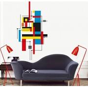MYVINILO - adesivi murali - Bauhaus / nero / azzuro / rosso / gialle