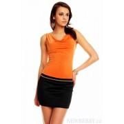 Dámské letní minišaty oranžovo-černé Lady Feeling