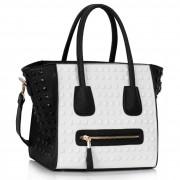 Kabelka LS fashion LS00288 - černo-bílá