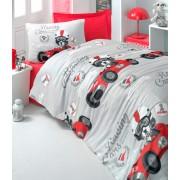 Lenjerie de pat pentru copii Valentini Bianco model Racing Cars