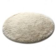 Miliboo Tapis shaggy rond blanc 150 cm UGO