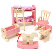 Kids House Play Wooden Children Doll Houses Toys(Baby Bedroom) Price Give 2 Dolls For Free