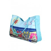 Plážová kabelka světle modrá