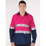 Lowes Hi Vis Pink Long Sleeve Shirt - Vis Pink M