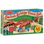Дървена влакова композиция с мост, 10704 Melissa and Doug, 000772107044