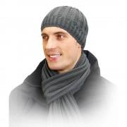 Czapka męska, polarowa podszewka, wełna 50% BOB II Loman