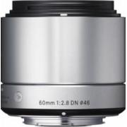 Obiectiv Foto Sigma 60mm f2.8 DN SONY-E Argintiu