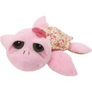 Lil'Peepers 14199 Suki Flora - Tortuga con caparazón estampado de flores y flor rosa en la cabeza (25,4 cm), color rosa