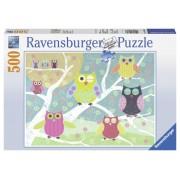 Ravensburger puzzle bufnite colorate, 500 piese