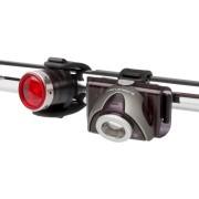 Set Lanterne LED LENSER Bicicleta SEO B5R GRI+B2R Reincarcabila USB 180lm