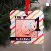 Fényképes karácsonyfadísz, első karácsony