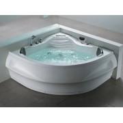 Whirlpool Badewanne St. Tropez mit 14 Massage Düsen + Heizung + Ozon + Wasser...