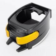 Carking del montaje del coche del sostenedor de taza / telefono movil - Negro + Amarillo