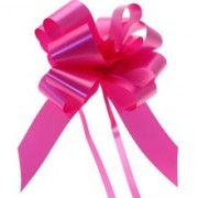 CERISE PINK 50mm SATIN PULL BOW