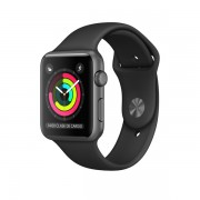 Apple Watch Series 1 con caja de aluminio gris espacial de 42 mm y correa deportiva negra