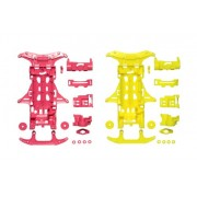 VS Fluorescence Color Chassis Set (Pink/Yellow) (Mini 4WD) (japan import)