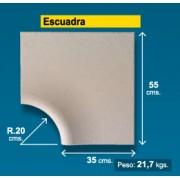 Esquina borde piscina Crema Granallado 35 cm