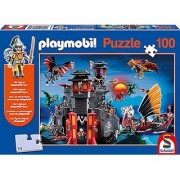 Schmidt Dragon Island With Fighter Playmobil Puzzle (100-Piece)