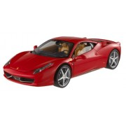 Modellini Collezione-Hot Wheels Auto Ferrari 458 Italia Rossa Scala 1:18