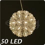 FDL LED Lichtball Ball mit weissen Lampen - blinkend 50 LED