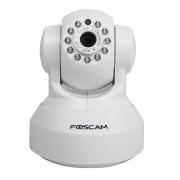 Caméra IP HD 720p blanche motorisée vision nocturne WiFi - Foscam
