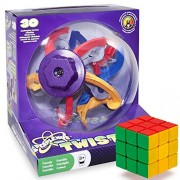 The Twisted Brain-Bending Bundle: Perplexus Twist and a Brybelly Puzzle Cube