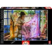 Educa - 16314 - Puzzle Classique - Châle Rose - Vicente Romero - 2000 pièces